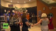 UK: Pro-Palestine activists stage flashmobs in British Museum and Barclays bank
