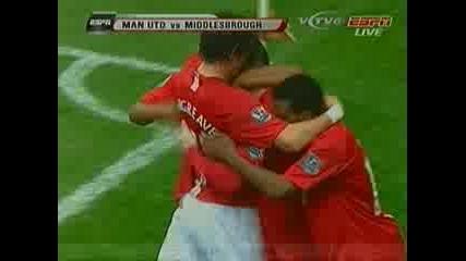 Манчестър Юнайтед - Мидълзбро 2 - 1 ( Рууни )