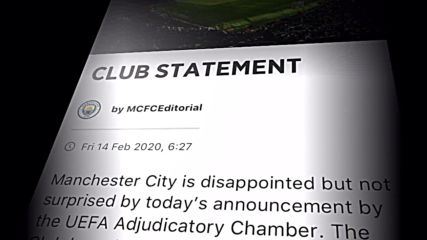 UK: Man City CEO says FFP wrongdoing allegations 'simply not true'