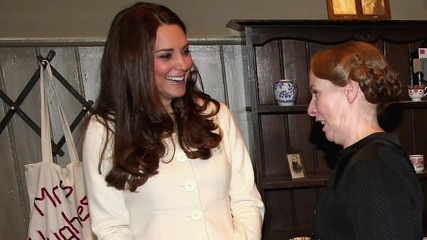 Kate Middleton Visits the Set of Downton Abbey