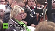 Russia: Funeral of first Russian casualty in Syria draws hundreds
