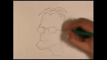 Рисуване на Професор Джон Фринк