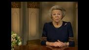 Кралица Беатрикс се обърна с прощална реч към холандците