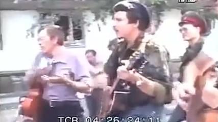 Фронтовая бригада из Петербурга на позициях в Бендерах июль 1992 г.