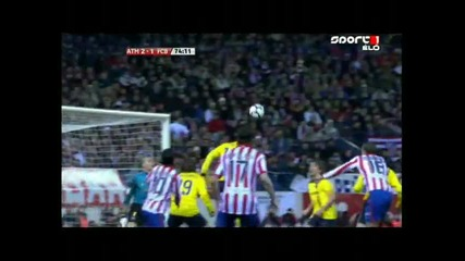 Атлетико Мадрид стана първия отбор победил Барселона през този сезон в Премиера Дивисион