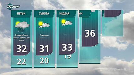 Прогноза за времето на NOVA NEWS (04.08.2021 – 18:00)