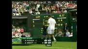 Wimbledon - Federer - Hrbaty - 4:0 Втори Сет