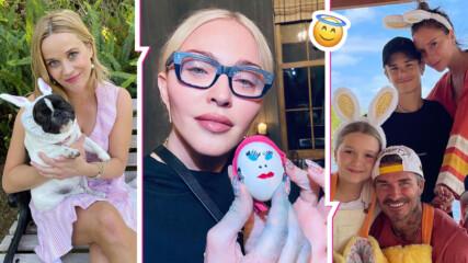 Семейни събирания, красиви яйца и зайци: Ето как световните звезди посрещнаха Великден
