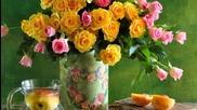 Relachement avec des fleurs, des livres, de la musique