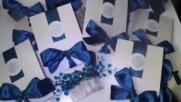 Сватбени покани в тъмно синьо от Pokanilux.com