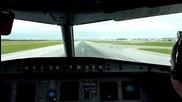 Полет Виена - Mилан с А319 [излитане - кацане]