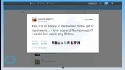 Kanye West's Anniversary Tweet to Kim Kardashian Is 1 Day Late...