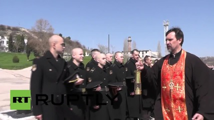 Russia: Black Sea Fleet blessed with Holy Fire in Sevastopol