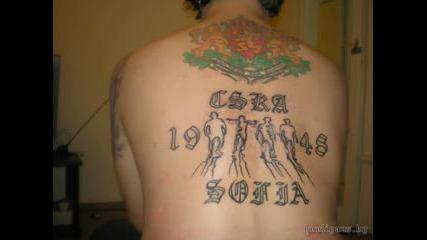Татуировки на фенове на Цска