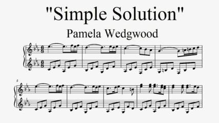 """Simple Solution"" - Pamela Wedgwood (piano sheet music)"
