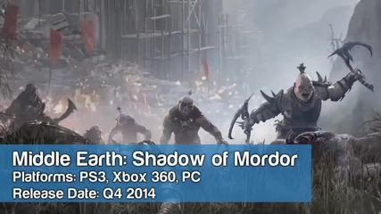 2014 New Video Game Releases for Ps4, Xbox One, Pc, Ps3 and Xbox 360