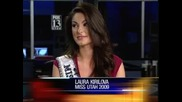 Българката Лора Кирилова стана четвърта на Мис Америка дава интервю и казва Здравей