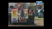 Premier fullpull Danish Tractor Pulling 2008 round 1