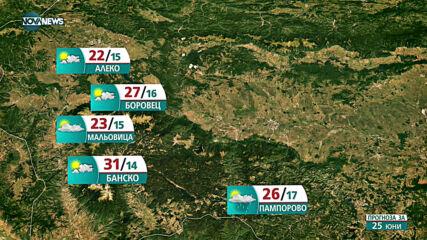 Прогноза за времето на NOVA NEWS (24.06.2021 - 18:00)