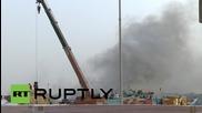 ОАЕ: Дубай задимен след експлозия в централния воден канал