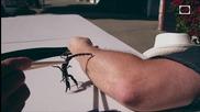 Ужилване от скорпион на забавен кадър