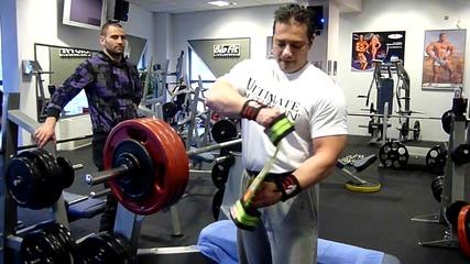 Бройки с Titan Ram на 183.5 кг - 9 reps