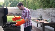 1 Bbq Grilling Gloves Ekogrips Totally Waterproof Finger Hand Wrist Protection. 3 Sizes
