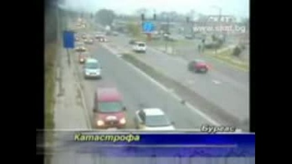 Верижна Катастрофа От 6 коли в Бургас Vbox7