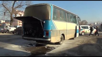 Празен автобус горя в Благоевград