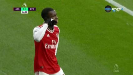 Нкетия с гол №1 в кариерата си за Арсенал