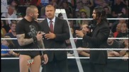 smackdown 27th june, 2014 seth rollins, orton & hhh opening the show