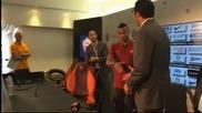 Представиха Ашли Коул с екипа на Рома