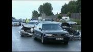 250 автомобила в адско меле на немски аутобан до Хановер, 66 души ранени при верижната катастрофа!