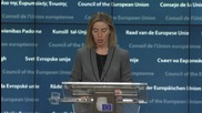 Belgium: All hostilities to stop except against ISIS and al-Nusra - Mogherini