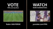Голът на Робин ван Перси, номиниран за най-добър гол в света за 2014 година / Hd