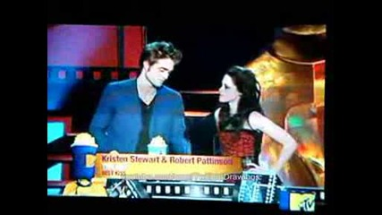 Robert Pattinson Kristen Steward best kiss Mtv awards 2009