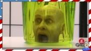 Жива човешка глава в буркан - Шега
