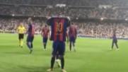 Меси показва на феновете на Реал Мадрид - Кой е най-добрият !