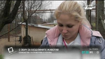 Семейство приютява бездомни сакати животни