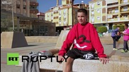 12 годишно момче с един крак прави невероятни паркур скокове!