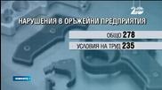 Откриха 280 нарушения в 18 оръжейни предприятия