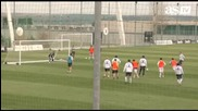 Мауроиньо вратар на тренировка на Реал Мадрид !
