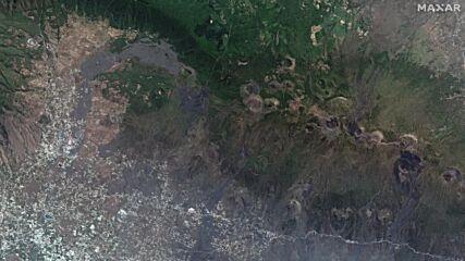 Spain: Spectacular nighttime satellite *STILLS* capture Cumbre Vieja's eruption