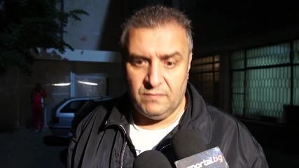 Димитър Ангелов: Радвам се, че има гражданска позиция на стадионите