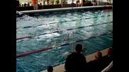 Йоанна Стоименова плува 100м съчетано на републиканското състезание в Пловдив 2011год
