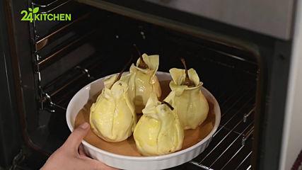Нина Бабич - Пълнени круши с рокфор в хрупкаво тесто