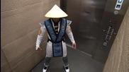 Шега ! Mortal Kombat в асансьор 2