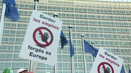 Belgium: European steel workers protest cheap Chinese imports