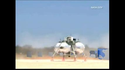 Тестов лунен модул на НАСА се разби по време на изпитания