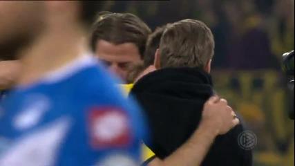 Радостта на Борусия Дортмунд след класирането за 1/2-финал